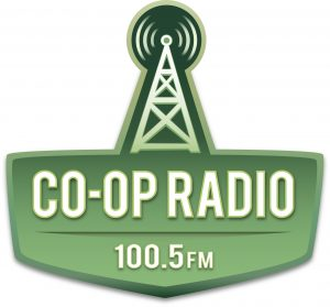 the logo of Co-op Radio